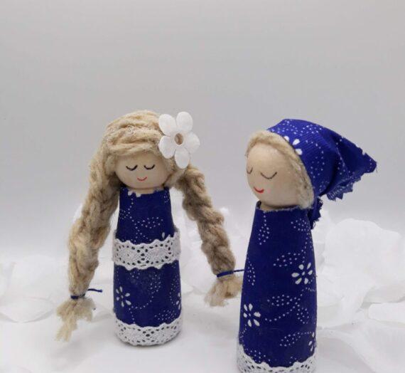 Kékfestő babák
